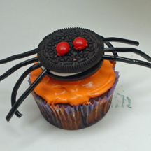 Spider cookie cupcakes for Halloween