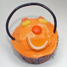 Jack o' lantern cupcake
