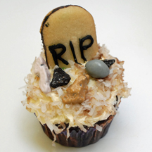 tombstone cupcake