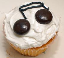 music note cupcake