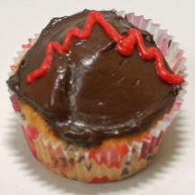 Heartbeat cupcake