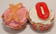 XO love cupcakes