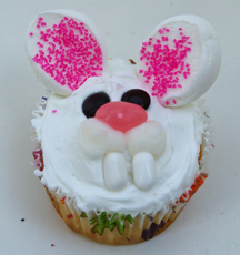 silly Easter bunny cupcake