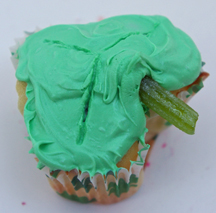 Clover cupcake for St. Patrick's Day