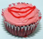 Lips cupcake
