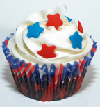 patriotic star cupcakes