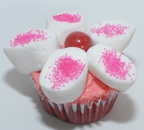 Valentine's Day Flower Cupcake