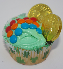St. Patrick's Day pot of gold cupcake