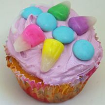 butterfly cupcake from candy corn