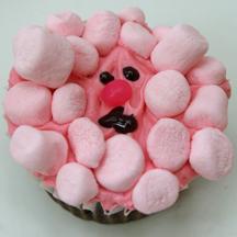 pink poodle cupcake