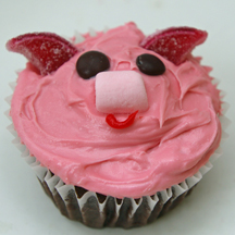 pig cupcake ring in nose