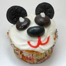 panda bear cupcake