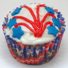 patriotic fireworks cupcakes
