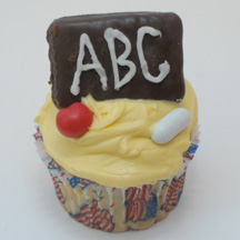 Back to school cupcake