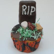 Gravestone cupcake