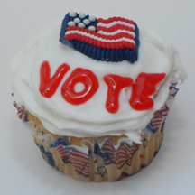 Election cupcake with flag