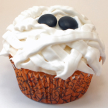 Frosted mummy cupcake