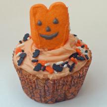 Halloween Peep cupcake