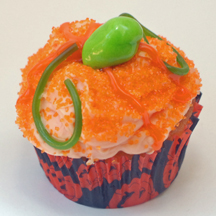 Pumpkin cupcake with vines