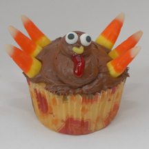 Turkey wattle cupcake