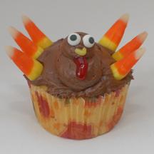 Turkey wattle cupcake