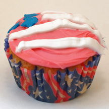 Election Day flag cupcake