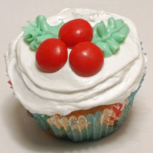 Holly Berry cupcake