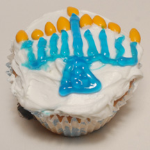 Menorah cupcake