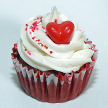 Swirl heart cupcake