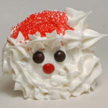 Santa beard cupcakes
