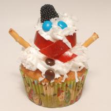 Tall snowman cupcake