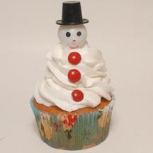 Cupcake pick snowman