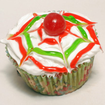 Tie dye Christmas cupcake