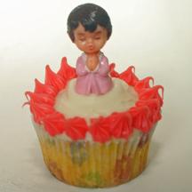 Baby christening cupcake