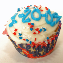 Inauguration cupcake