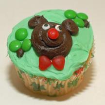 St. Patrick's Day bear cupcake