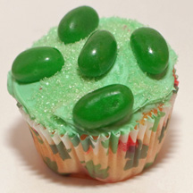 Green jelly bean cupcake