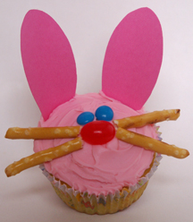Easter bunny cupcake paper ears