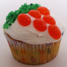 Jellybean carrot cupcake