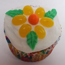 Jellybean flower cupcake
