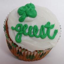 Shamrock party cupcake