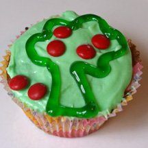 Apple tree cupcake