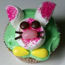 Marshmallow bunny cupcake