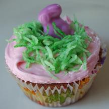 Bunny in nest cupcake