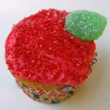 Apple cupcake for teacher