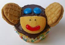 Nutter Butter monkey cupcake