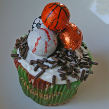 Sports ball cupcake
