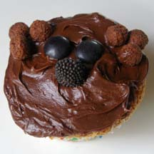 Brown bear cupcake