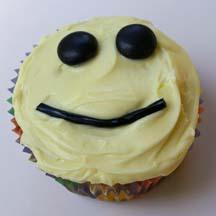 Smile cupcake