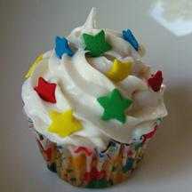 Swirled stars cupcake